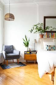 White Laminate Flooring Bedroom Mid Century Bedroom Design Black Varnished Wooden Frame Brown
