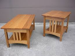 Simple Oak Mission Style Coffee Table And End Table Design For - Small table design