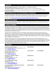 Sample Ministry Resume by Sample Pastor Resume Template Examples