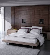 bedroom accent wallpaper wall mounted brown rectangle platform