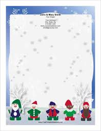 15 christmas letterhead templates free word designs creative