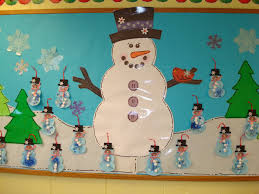 trinity preschool mp snowman and christmas bulletin board at