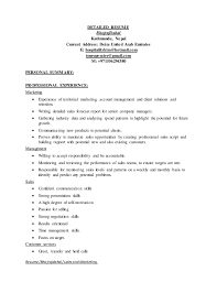 Resume Skills Summary Examples by Detailed Resume Example