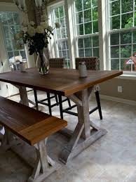 how high is a counter height table beautiful cypress counter height x leg farmhouse table farmhouse