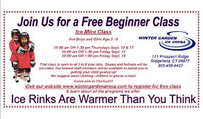 free trial classes at the winter garden ice arena