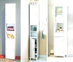 Narrow Depth Storage Cabinet Narrow Bathroom Cabinet A Crisp White Freestanding Bathroom
