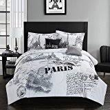 Passport Bed Set Amazon Com Bed Lam Passport London Paris Black White Queen Full