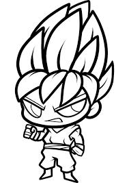 chibi son goku super saiyan coloring page netart