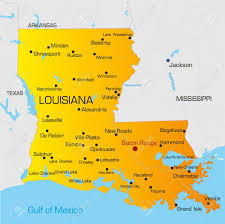 map of louisiana vector color map of louisiana state usa royalty free cliparts