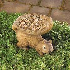 birdfeeder squirrel lawn ornament yard decoration garden seed