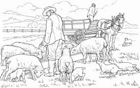 coloring sheep animal coloring pages 2