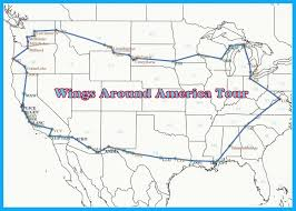 Virginia On The Map by About Our Planned Route U2013 Wings Around America