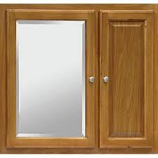Bathroom Mirror With Medicine Cabinet Regal Oak 30x27 Mirrored Medicine Cabinet Bargain Outlet