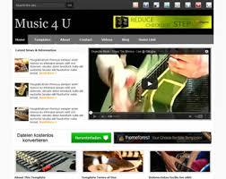 music 4 u website template free website templates os templates