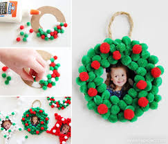 pom pom photo ornaments one project