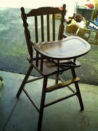 Antique Wooden High Chair Drab To Fab Vintage High Chair Revamp