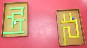 preschool crafts for kids drinking straw maze toy craft