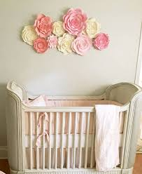 Pink And Brown Nursery Wall Decor Baby Nursery Wall Decor Paper Flowers For Nursery