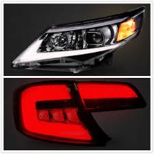 2015 toyota camry tail light for toyota camry 2012 2014 led drl headlights smoked black tail