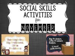 social skills activities for november by karol tpt