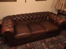 Leather Chesterfield Sofa Leather Chesterfield Sofa Ebay