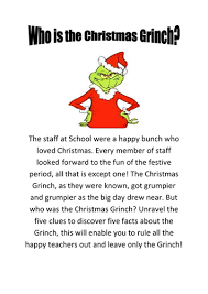 who is the christmas grinch by mmilne teaching resources tes