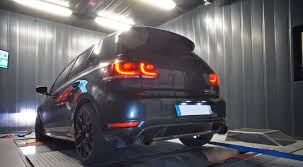 volkswagen golf blue armytrix stainless steel valvetronic catback exhaust system dual