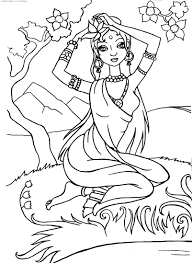 indian princess u0026 raquo coloring for kids print free children u0027s