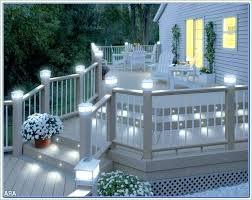 solar powered deck post lights outdoor deck post lighting arhidom info