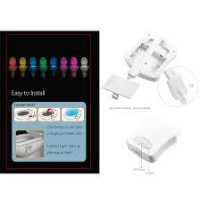 toilet light sensor toilet light led lamp human motion activated pir 8 colours
