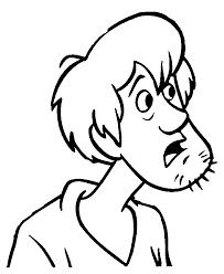 doo coloring close shaggy