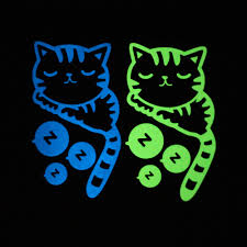 aliexpress com buy creative home decor glow in the dark cat