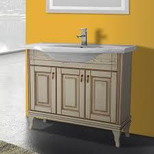 Floor Standing Bathroom Cabinets by 40 Inch Floor Standing Vanilla Vanity Cabinet With Fitted Sink