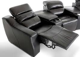 modern theatre reclining sectional sofa leather sectionals