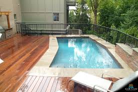 Small Backyard Pool by Elevated Small Yard Pool Gib San Pools