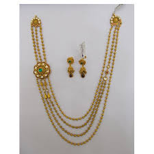 pattern gold necklace images Gold long necklace set manufacturer from mumbai jpg