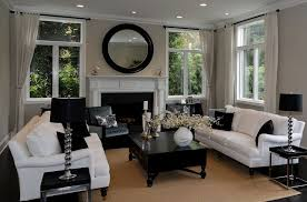 Blue Living Room Cement Fireplace Zillow Digs Zillow - Contemporary living room design ideas