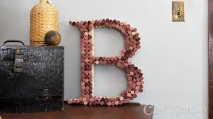 how to make a cork letter youtube