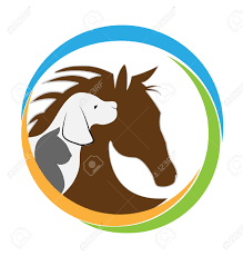 catdog veterinary logo cat dog and horse graphic design royalty free