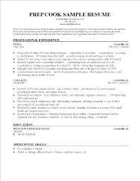 Cook Resume Examples Free Prep Cook Resume Sample Templates At Allbusinesstemplates Com