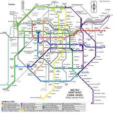 Boston Subway Map Pdf by Santiago Subway System Metro Santiago De Chile