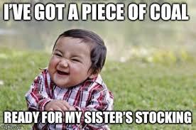Stocking Meme - evil toddler meme imgflip