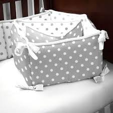 gray and white dots and stripes crib bumper carousel designs