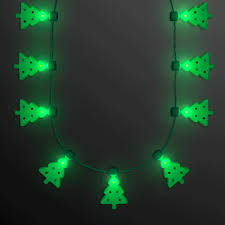 flashing christmas light necklace merriest little christmas tree flashing holiday lights necklace