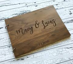 engravable guest book 300 best wedding guest books made from wood with images on