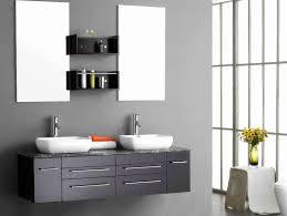 Beech Bathroom Furniture Plain Blue Shower Curtain Modern White And Metal Wall L