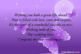 wedding message card wishing you both a great wedding card message