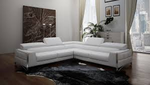 Modern Leather Sectional Sofa Casa Metz Modern White Leather Sectional Sofa