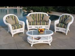 White Resin Wicker ChairsWhite Wicker Outdoor Bar Stools YouTube - Outdoor white wicker furniture