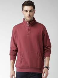 mast u0026 harbour men maroon solid sweatshirt at rs 1049 from myntra